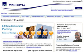 Wachovia re-design
